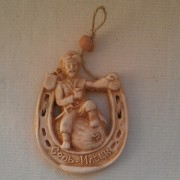 Магнит керамический Казак с арбузом в подкове Соль-Илецк